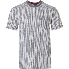 Pastunette for Men mens Mix & Match light grey short sleeve top 'cool lines'