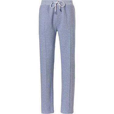 Pastunette for Men Mix & Match 'fine cool lines' lichtblauwe lounge-stijl lange broek voor heren met zakken, elastische taille met taillekoord