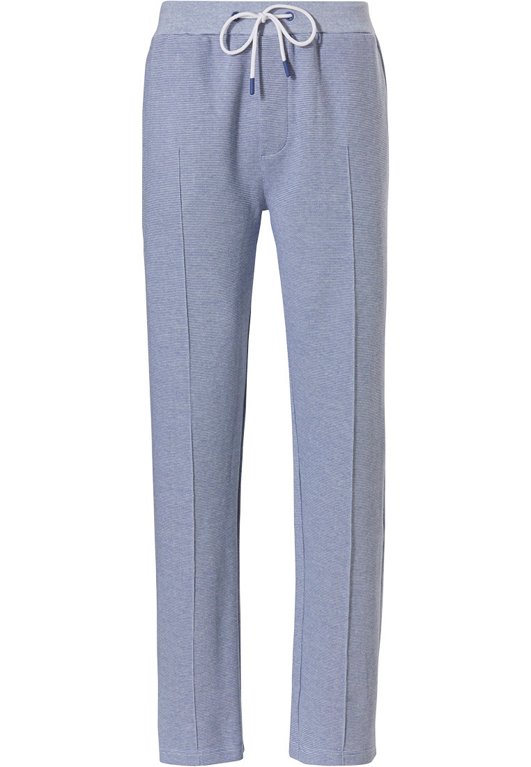Pastunette for Men mens, Mix & Match lounge-style light blue long sweatpants with pockets and elasticated tie-waist 'fine cool lines'