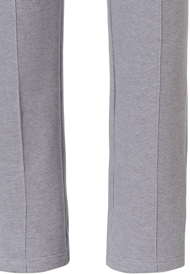 Pastunette for Men mens, Mix & Match lounge-style light grey long sweatpants with pockets and elasticated tie-waist 'fine cool lines'