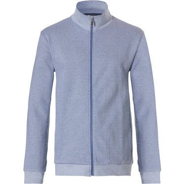Pastunette for Men mens, Mix & Match lounge-style light blue jacket with cuffs and full zip 'fine cool lines'