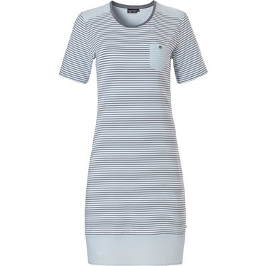 Pastunette Deluxe short sleeve ladies nightdress 'elegant fine stripes'