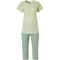 Pastunette short sleeve ladies 3/4 pyjama set 'pretty fine zig zag lines'