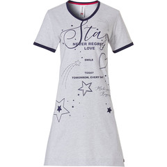 Rebelle ladies short sleeve nightdress  'Stay a Star'