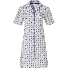 Rebelle short sleeve full button cotton nightdress