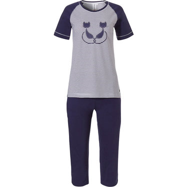 Rebelle short sleeve cotton pyjama with 3/4 pants