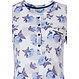 Pastunette 'little blue blossom' 3/4 sleeve light blue & pure white, beautiful floral cotton nightdress with 4 buttons and chest pocket