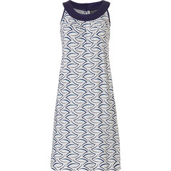 Pastunette Deluxe sleeveless homedress with flattering front 'chic luxury waves'