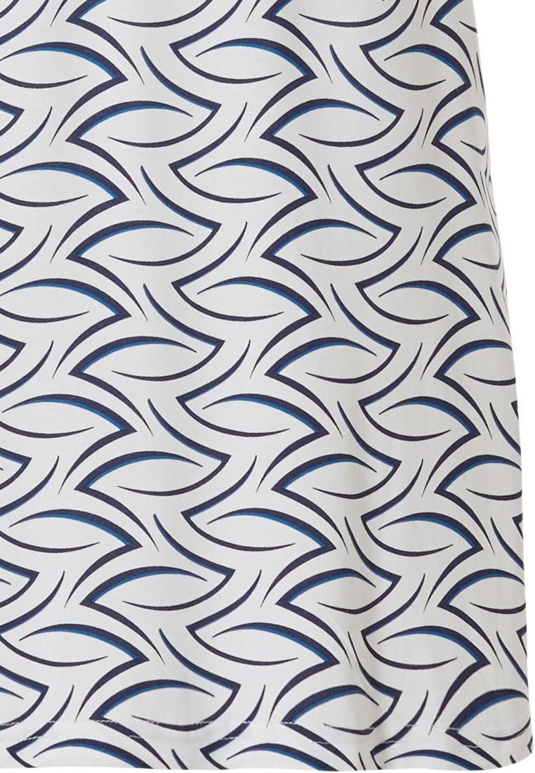 Pastunette Deluxe mouwloos huisjurkje met flatterende pasvorm 'chic luxury waves'