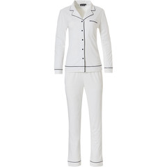 Pastunette Deluxe ladies long sleeve full button pyjama 'satin soft luxury'