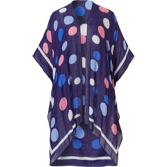 Pastunette Beach donkerblauwe strand cover-up met korte mouwen 'beach dotty'