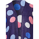 Pastunette Beach 'beach dotty' dark blue wrap-over style beach summer cover-up with pastel coloured dotty circles