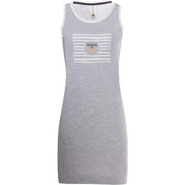 Rebelle 'Good as Gold' light grey sporty ladies sleeveless nightdress with trendy gold side stripe