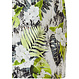 Pastunette Beach 'floral jungle' green, white & black sleeveless  beach dress with an all over leaf & flower pattern with a hint of animal print