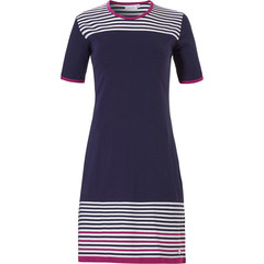 Pastunette ladies short sleeve nightdress 'horizontal eden stripes'