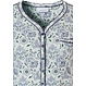 Pastunette 'floral delight' pale aqua green ladies classic style short sleeve cotton nightdress with 5 buttons and chest pocket