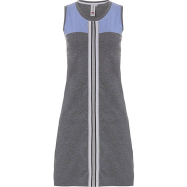 Rebelle 'sporty style - NO LIMITS' light blue & grey ladies 'must have' sleeveless home- nightdress with trendy sporty stripe