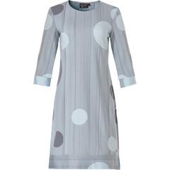 Pastunette Deluxe luxe dames homewear-nachthemd met 3/4e mouw '60's circles on elegant stripes'