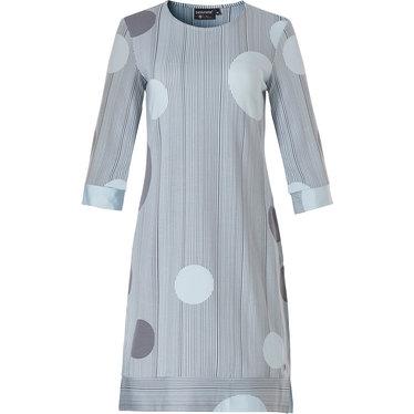 Pastunette Deluxe luxe dames homewear-nachthemd met 3/4e mouw '60's circles on elegant stripes'