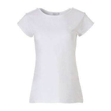 Pastunette witte dames pyjama top met korte mouwen