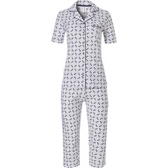 Rebelle full button, short sleeve, cotton pyjama with capri pants'pussycats'