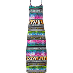 Pastunette Beach long, spaghetti beach dress 'hint of animal instincts'