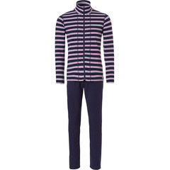 Pastunette ladies terry homesuit with full zip 'horizontal eden stripes'