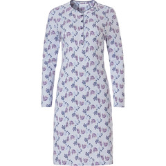 Pastunette long sleeve cotton classic nightdress with buttons 'floral delight'