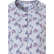 Pastunette 'floral delight' long sleeve light blue & purple, ladies  cotton nightdress with 5 buttons