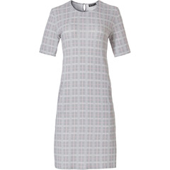 Pastunette Deluxe ladies short sleeve night & homewear dress 'checkered blocks of style'
