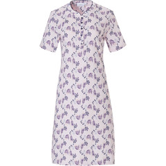 Pastunette short sleeve cotton nightdress with buttons 'floral delight'
