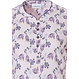 Pastunette 'floral delight' short sleeve soft pink & purple, ladies cotton nightdress with 5 buttons
