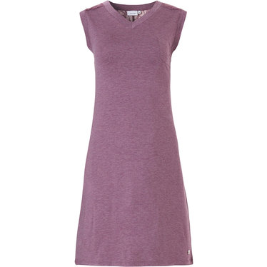 Pastunette 'lace detail' soft purple ladies sleeveless dress with chest pocket and pretty lace detaling on 'v' shape back panel