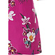 Pastunette 'orchid flower garden' dark fuchsia pink, pretty floral ladies 3/4 sleeve cotton dress with and pretty all over floral print