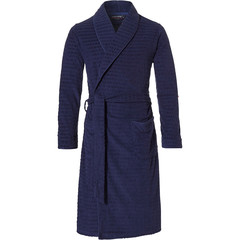 Pastunette for Men mens wrap-over morning gown with shawlcollar 'star point'