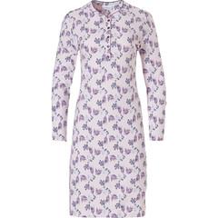 Pastunette klassiek, katoenen dames nachthemd met lange mouwen en knoopjes 'floral delight'