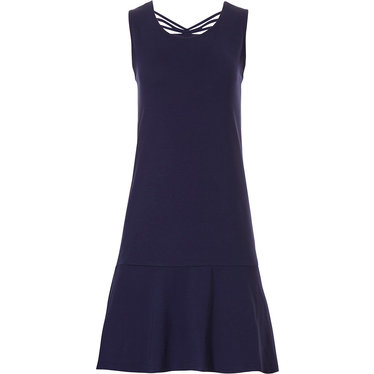 Pastunette Beach ladies sleeveless dark blue beach dress with pretty back details and broad hem  - A  'Must have' for any  Summer wardrobe!