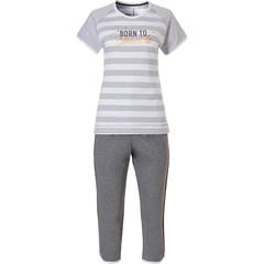 Rebelle dames pyjama met korte mouwen en capri broek 'Born 2 Sparkle'