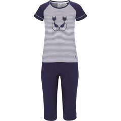 Rebelle Girls girls short sleeve cotton pyjama set 'Purrrfectly in love pussycats'