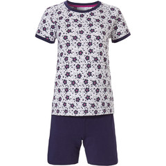 Pastunette short sleeve ladies shorty set 'bold & beautiful little flowers'