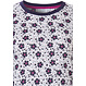 Pastunette 'bold & beautiful little flowers' short sleeve ladies shorty set with white, blue & fuschia patterrned floral top and dark blue shorts