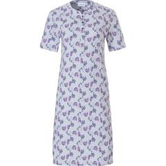 Pastunette nachthemd met korte mouwen en knoopjes 'floral delight'