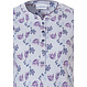 Pastunette 'floral fancy'  short sleeve light blue & purple, ladies cotton nightdress with 5 buttons