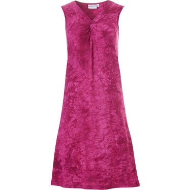 Pastunette Beach 'twist of pink' dark sleeveless beach dress with pretty front twist detail and all over hints of pink pattern