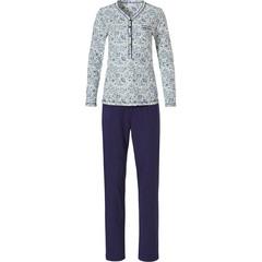 Pastunette klassieke, katoenen dames pyjama met lange mouwen en knoopjes 'floral delight'