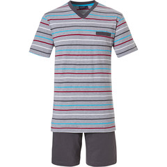 Pastunette for Men mens shorty set  'Ocean Life, sea stripes'