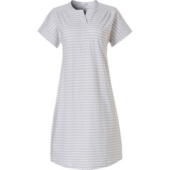 Pastunette short sleeve ladies nightdress 'pretty fine zig zag lines'