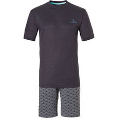 Pastunette for Men heren shortama 'Ocean Life, sea shark'