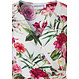 Pastunette Beach Premium Collection strandjurkje met korte mouwen 'beautiful Summer flowers'