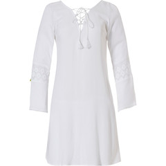 Pastunette Beach long sleeve pure white beach 'tunic style' cover-up